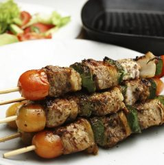 greek pork kebabs