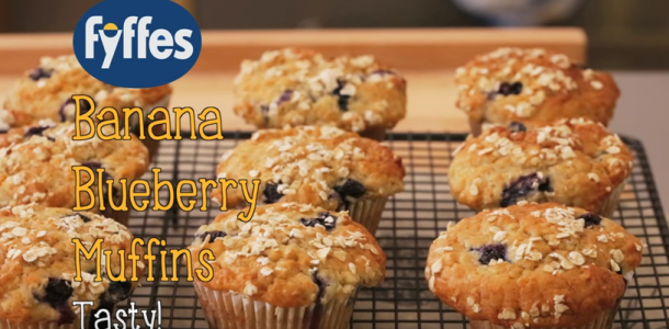 Easy recipe for Fyffes Banana Blueberry Muffins