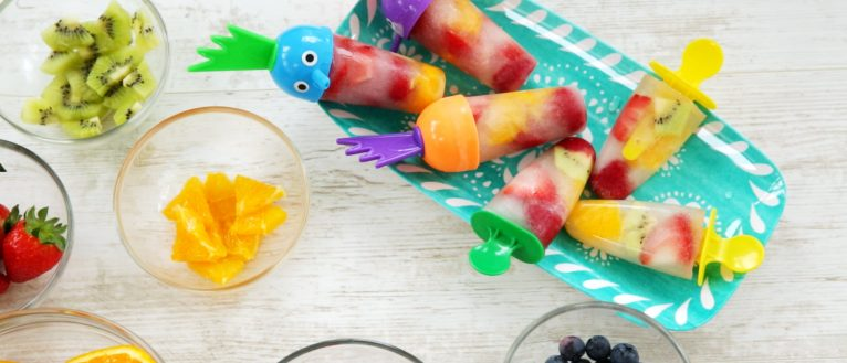 Fruit Ice Pops, kids cook club, cooking with kids